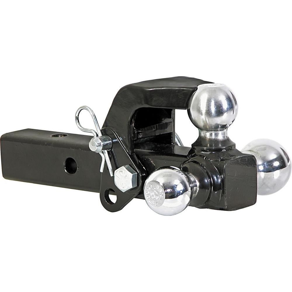 Buyers Products Company 1 7 8 In 2 In 2 5 16 In Chrome Towing Balls Tri Ball Hitch With Pintle Hook 1802279 Trailer Hitch Car Accessories Chrome