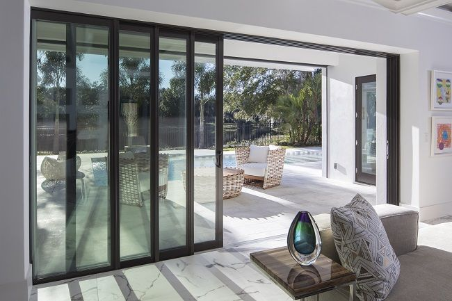 Sliding Patio Doors Fit Perfectly In Rooms Where There Isn T An Abundance Of Space Thanks To Their Sliding Func Patio Doors Sliding Patio Doors House Exterior