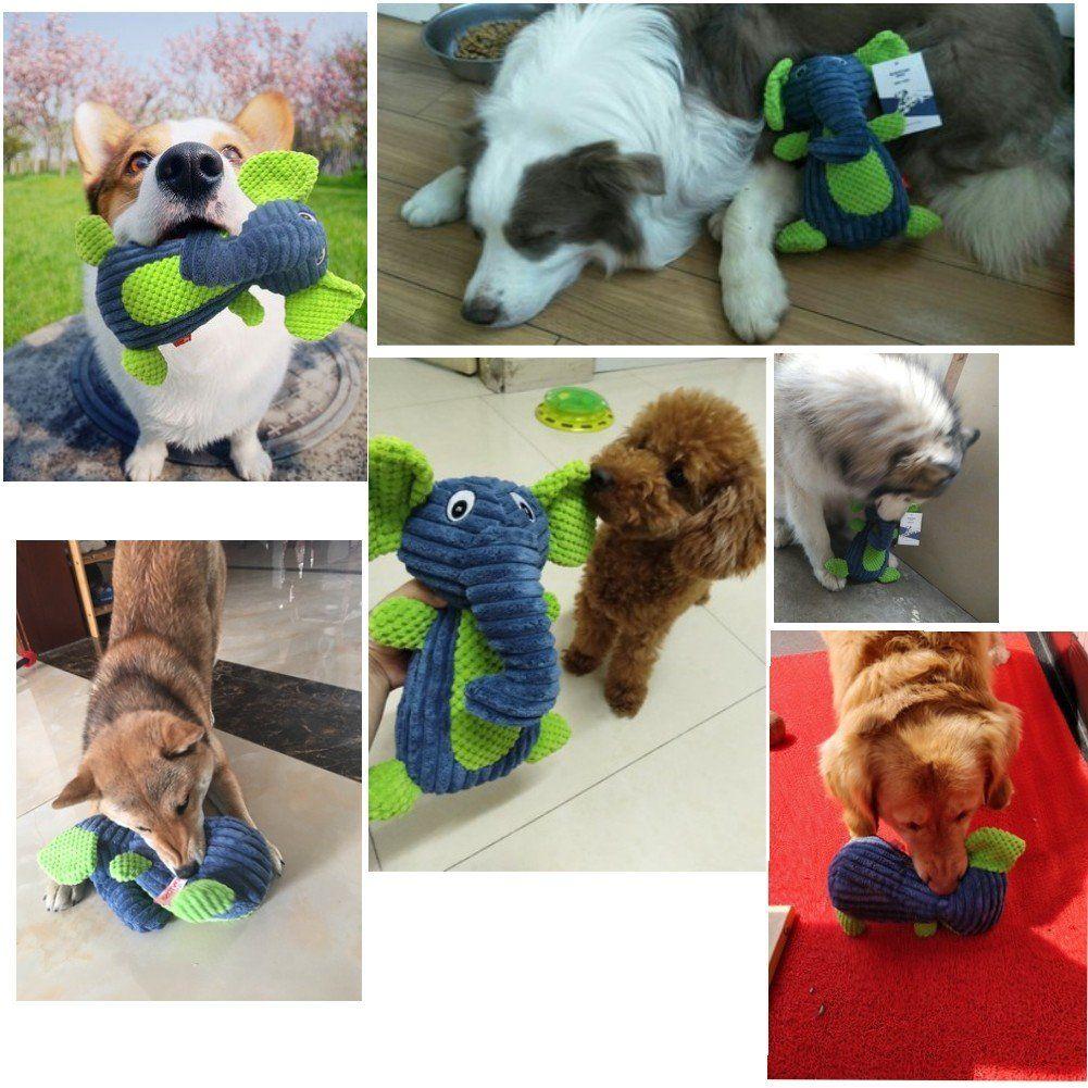 Small Dog Toys Kontosh Makit Plush Durable Squeaky Dog Toys For