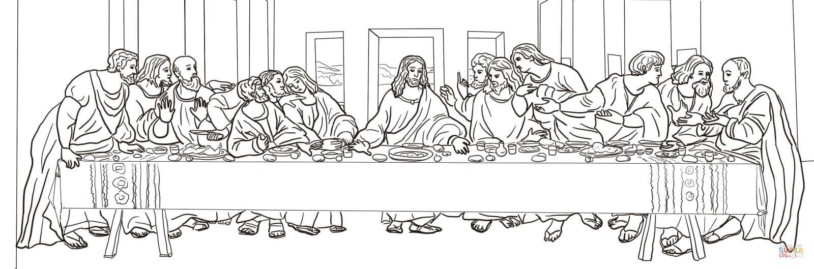 The Last Supper By Leonardo Da Vinci Super Coloring Last