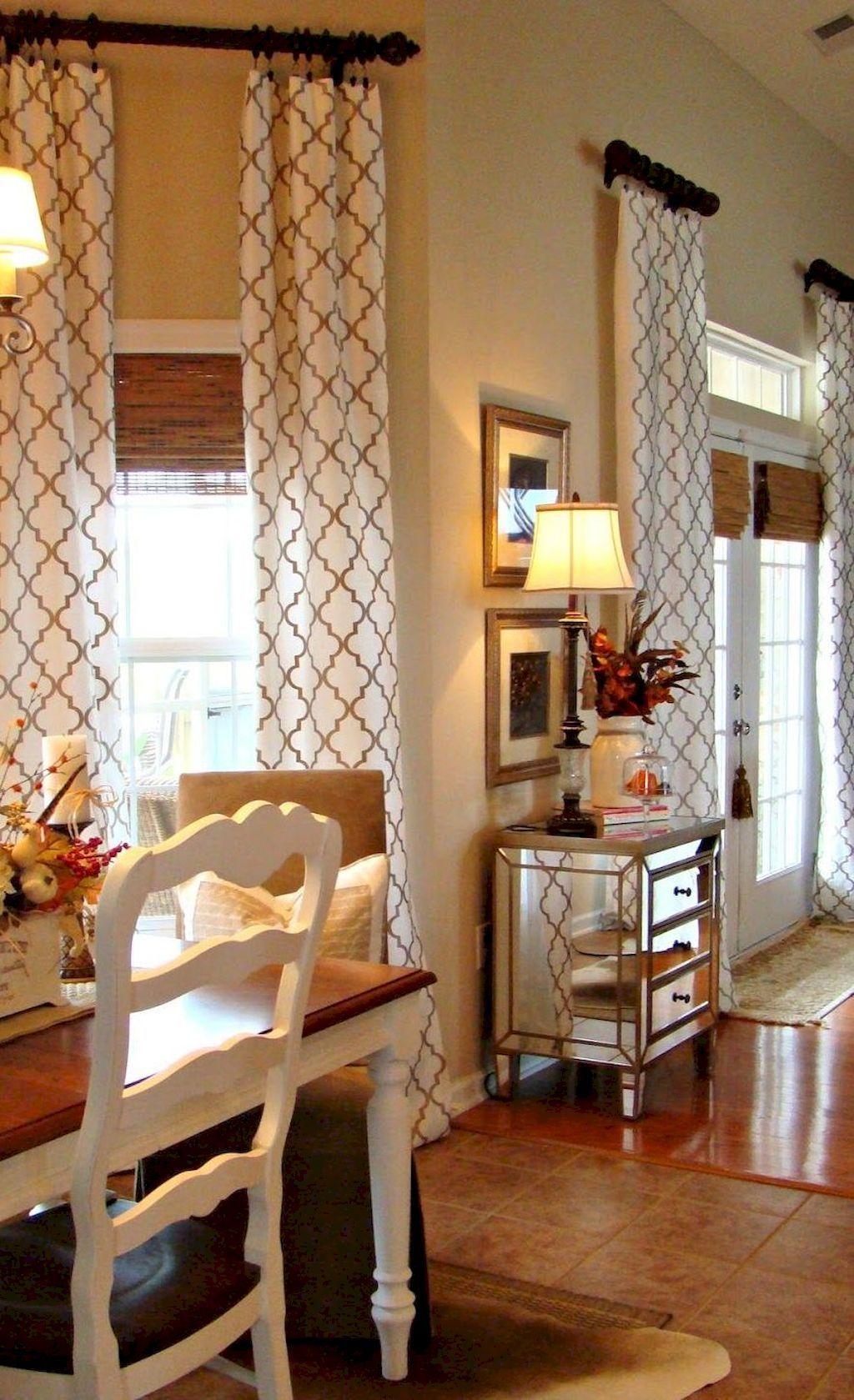 95 Modern Farmhouse Curtains for Living Room Decorating ... on Farmhouse Curtain Ideas For Living Room  id=50623