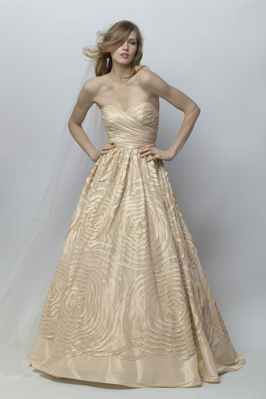 Champagne colored wedding dress   Champagne wedding dresses that brings with it a sense of
