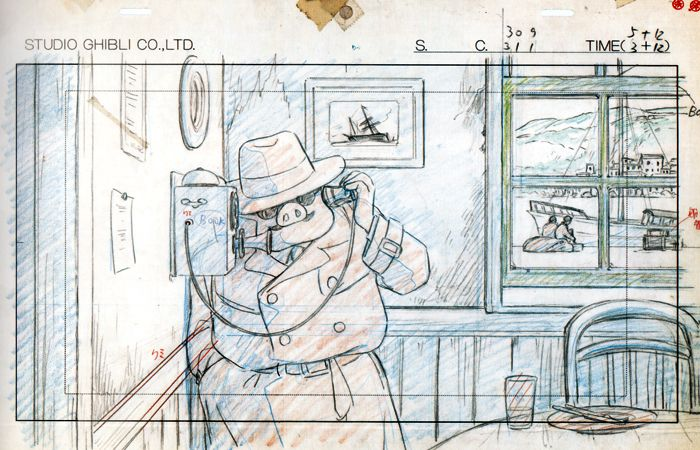Porco Rosso Layout  Storyboard  Animatics    Studio