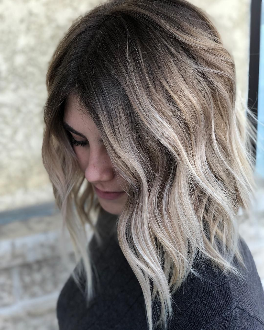 Pretty Balayage Ombre Hair Styles for Shoulder Length Hair, Medium