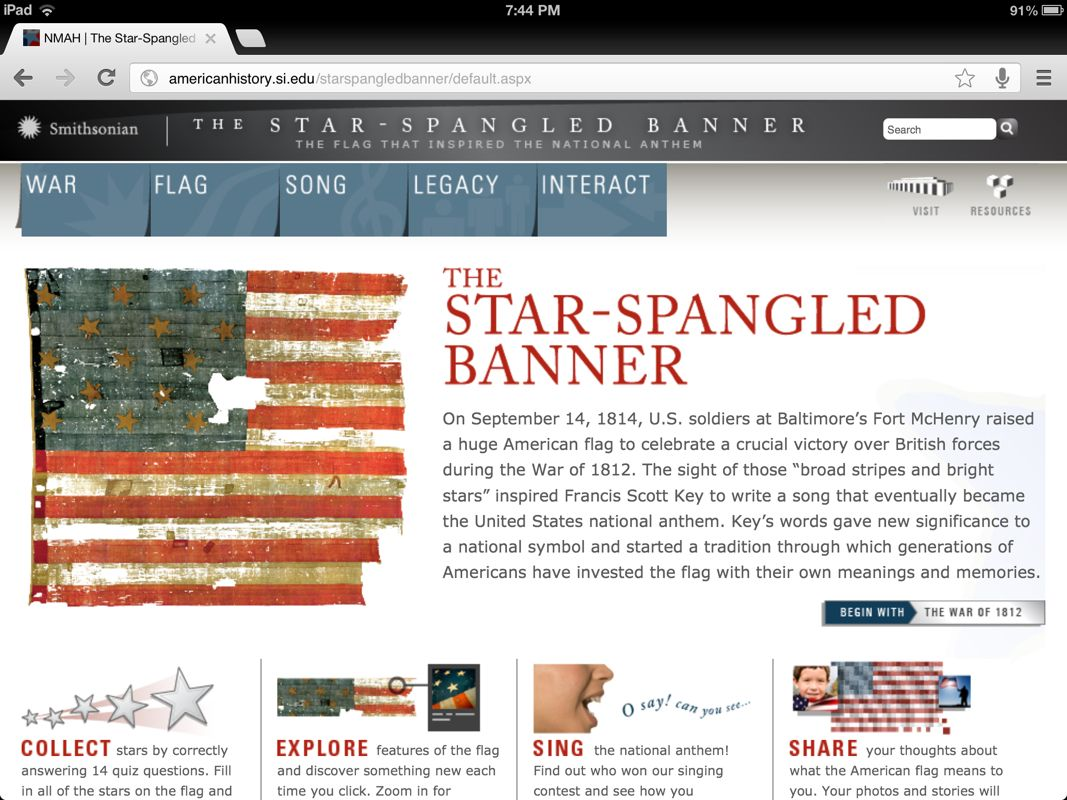 Explore The Flag That Inspired The Writing Of The Star Spangled Banner