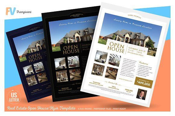 Real Estate Open House Flyer By Frangivani On Creativemarket