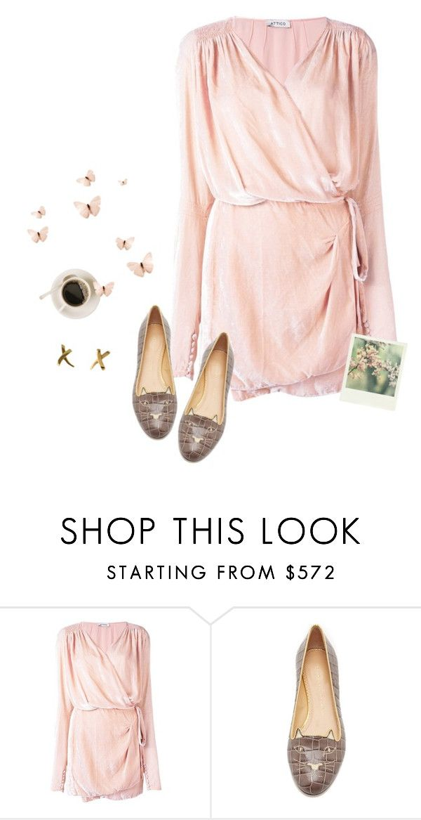 """""""It started with a whisper..."""" by picassogirl ❤ liked on Polyvore featuring Attico, Charlotte Olympia, Polaroid and Tiffany & Co."""