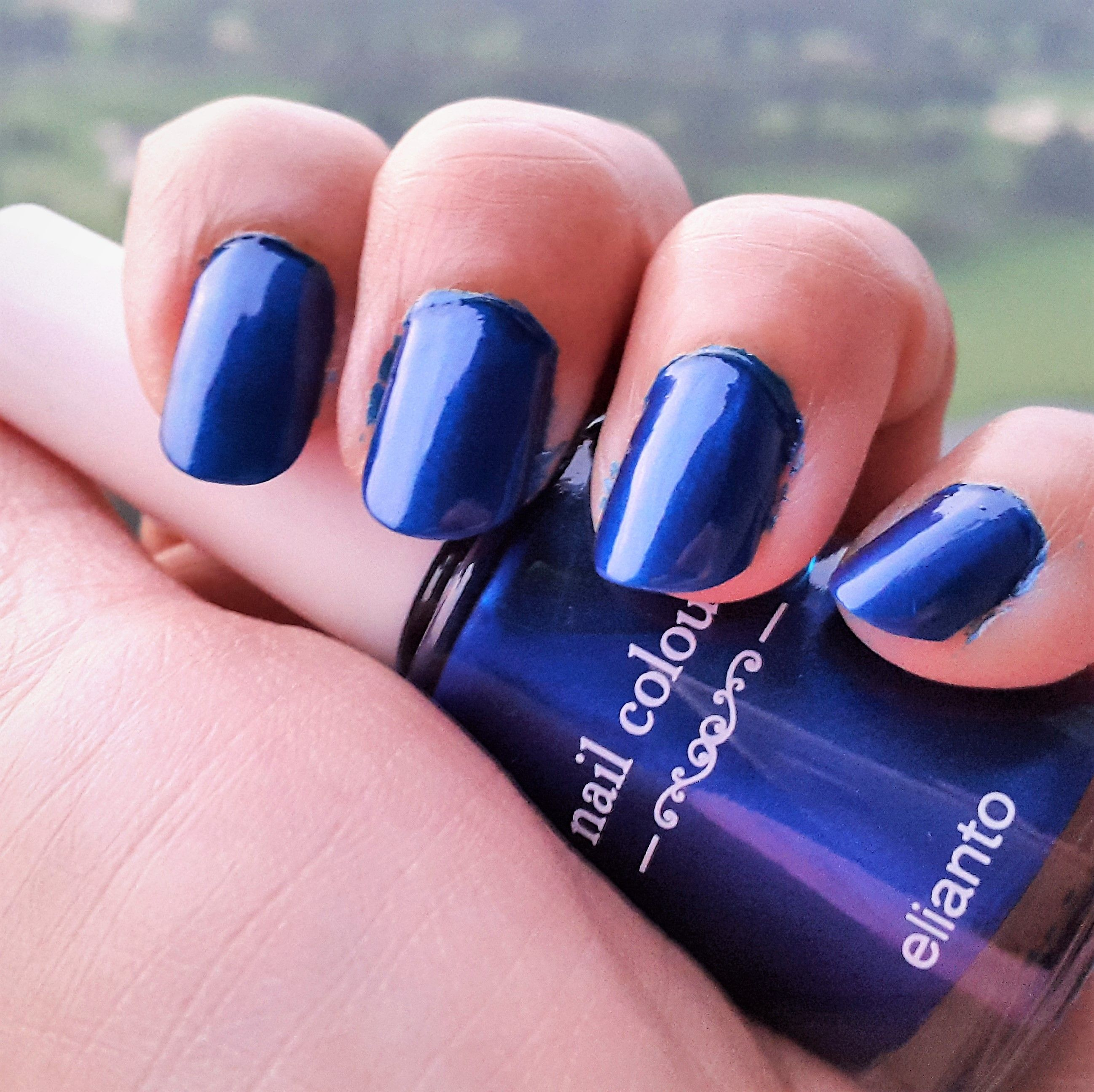 Elianto a Korean Brand nail polish in the shade - No.29 - Blue ...