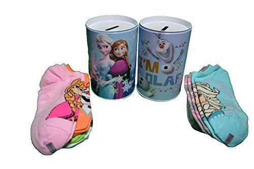 Disney Girls Frozen Elsa Anna Olaf 8 Pair Socks Gift Set with Tin Bank (Sock Sz 9-11) Disney http://www.amazon.com/dp/B016C75VQW/ref=cm_sw_r_pi_dp_WANuwb0Y6JYXB