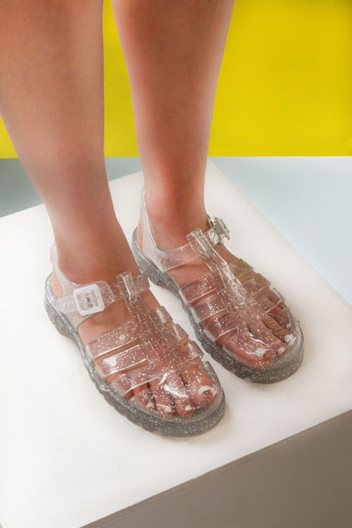 Jelly shoes, Aesthetic shoes, Jelly sandals