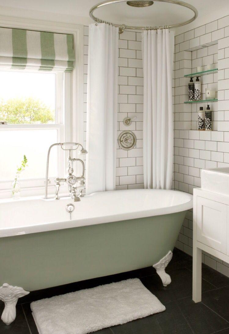 50s Classic | Green bathroom, Bathrooms remodel, Victorian ...
