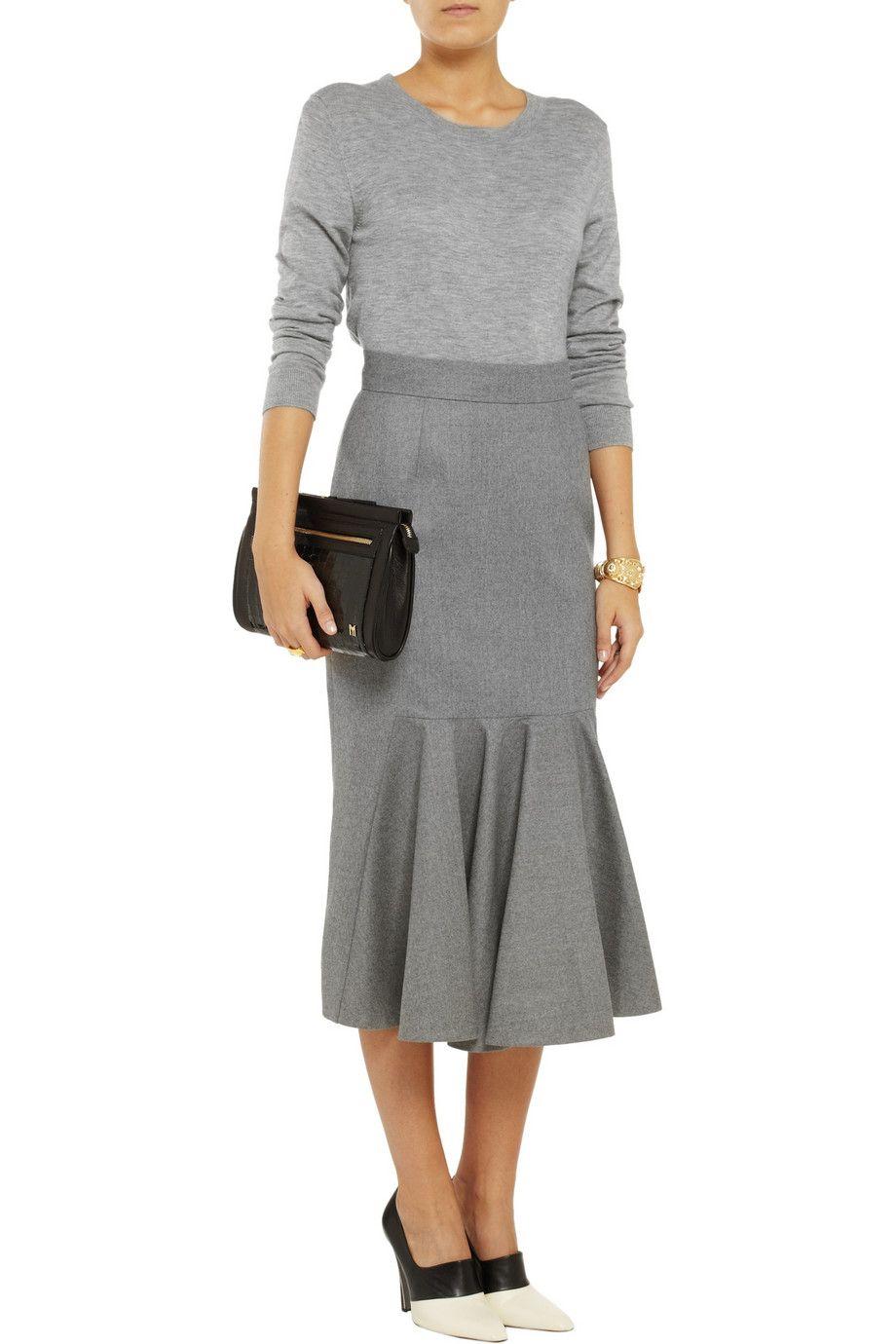 Stella McCartneySilvana pleated wool skirtfront