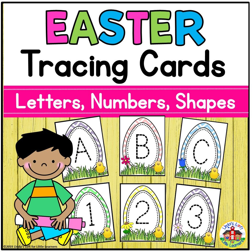 Easter Tracing Cards Letters Numbers Shapes