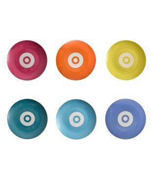 ASSIETTE GM - Technicolor (boite de 6)