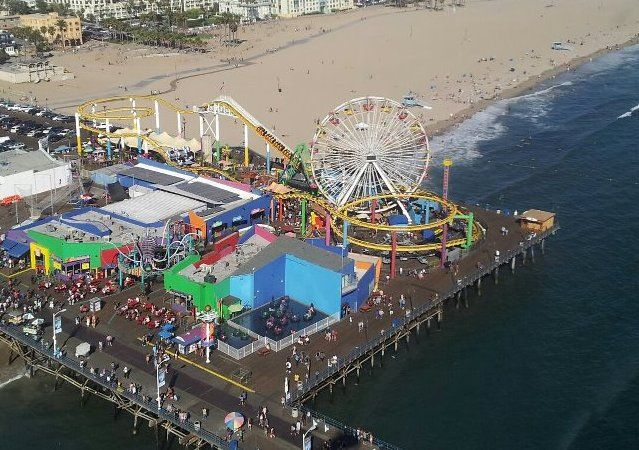 Pacific Park On Santa Monica Pier Ca California