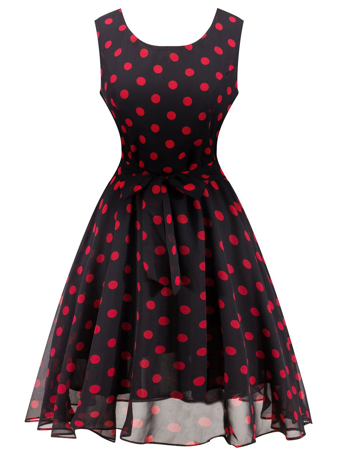 Fashionable polka dot dresses in retro style 27
