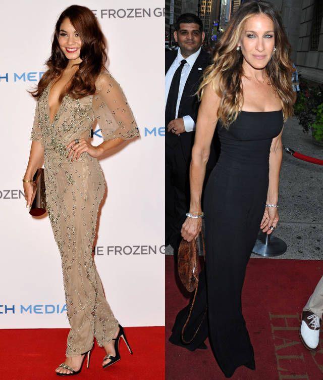 Sarah Jessica Parker vs. Vanessa Hudgens jumpsuits