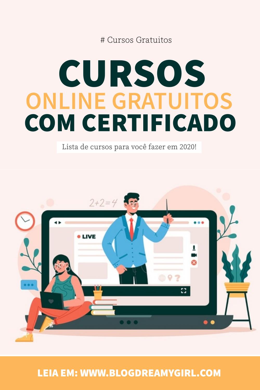 Cursos online com certificado incluso!