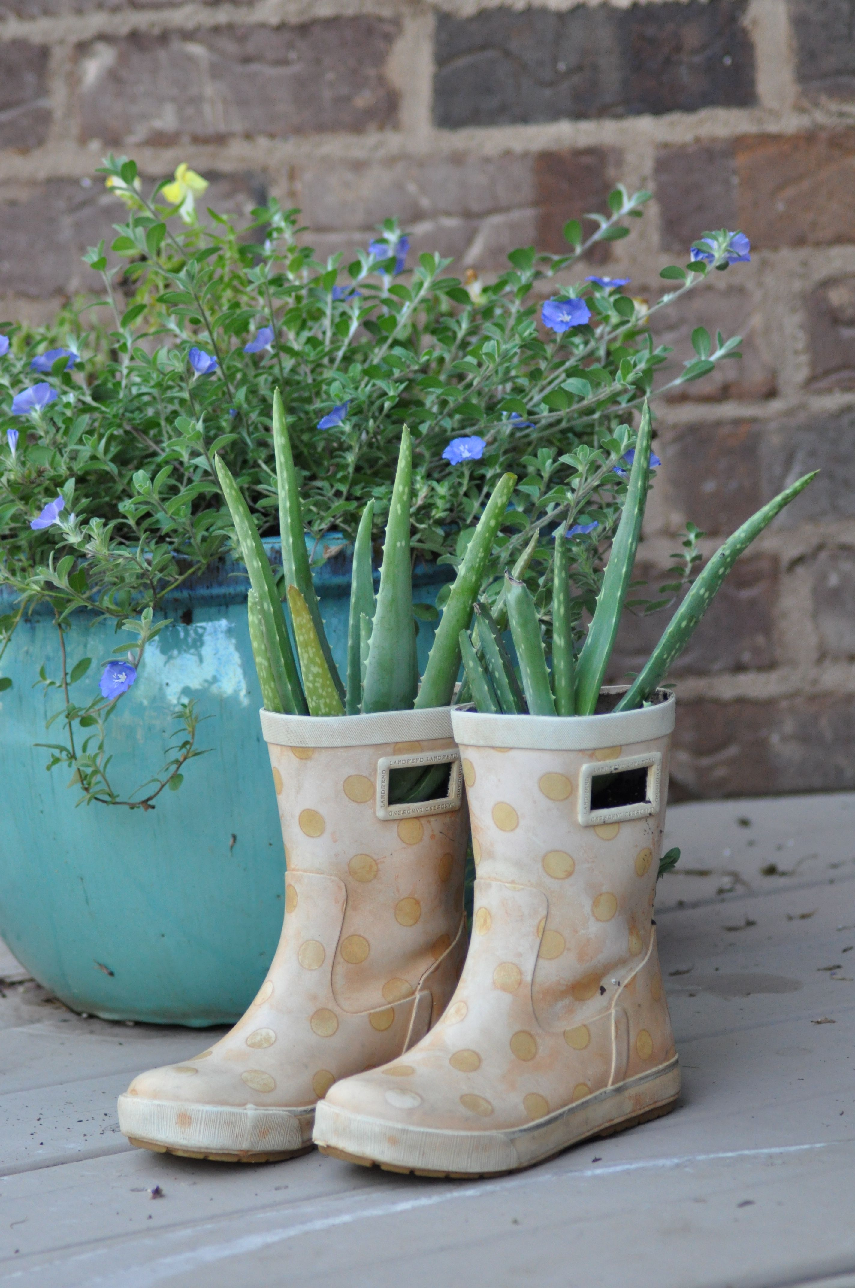 My Daughters Recycled Rain Boots Boots Flower Pot