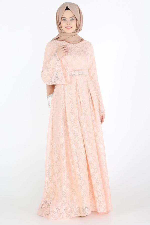Komple Dantel Tesettur Abiye Pudra Kapida Odemeli Ucuz Bayan Giyim Online Alisveris Sitesi Modivera Com Ucuz Tesettur Abiye Elbiseler The Dress Giyim Elbise