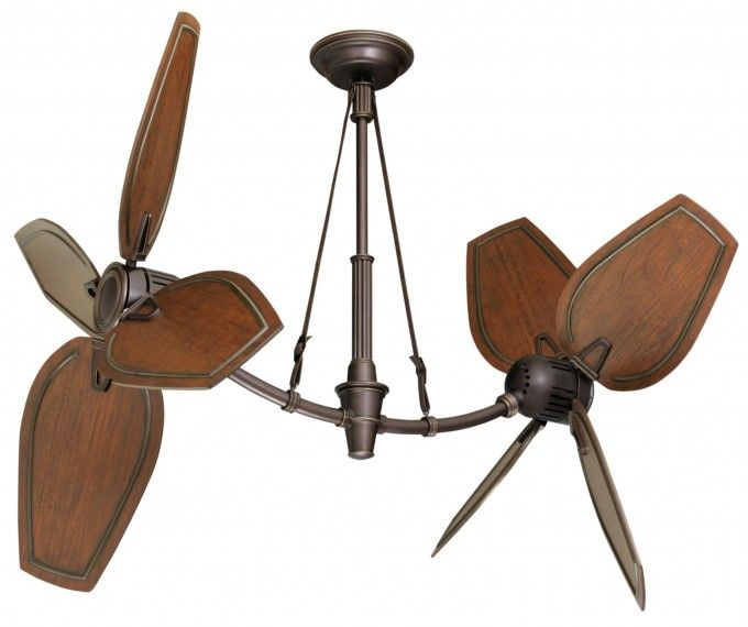 Rustic Dining Room Design With Unique Ceiling Fans