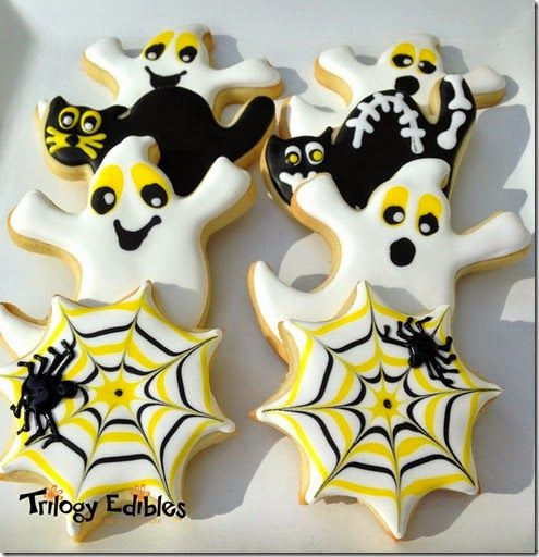 Silly sugar cookie for halloween plus my recipe for chocolate royal icing for black!