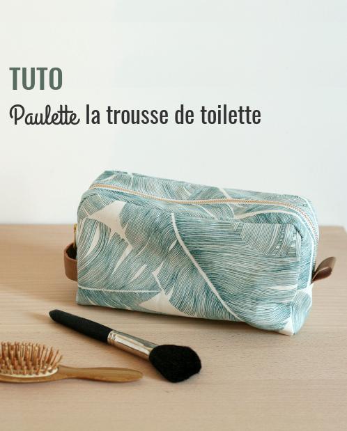 Trousse de toilette Tuto avec doublure | Magazine LOUISE   – Tissus, Fabics, Stoffe et couture