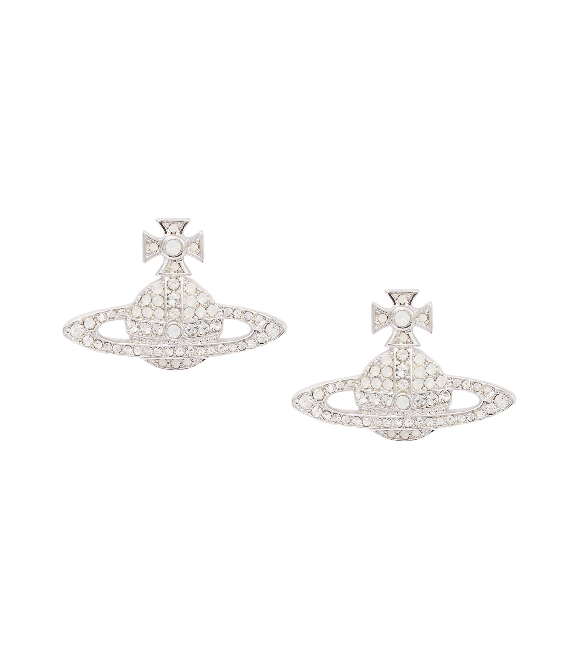 Vivienne Westwood Kika Earrings White Opal