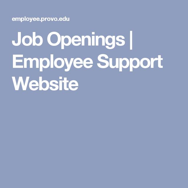 Job Openings | Employee Support Website