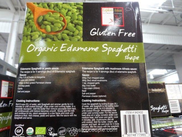 Organic Edamame Spaghetti Costco With Images Edamame Spaghetti