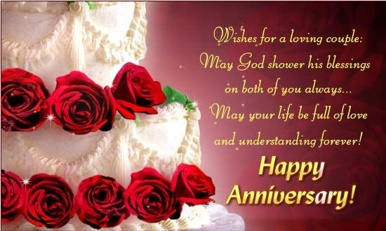Send This Beautiful Ecard To A Loving Couple With Roses, Cake And A  Wonderful Message. Free Online Wishes For A Loving Couple Ecards On  Anniversary