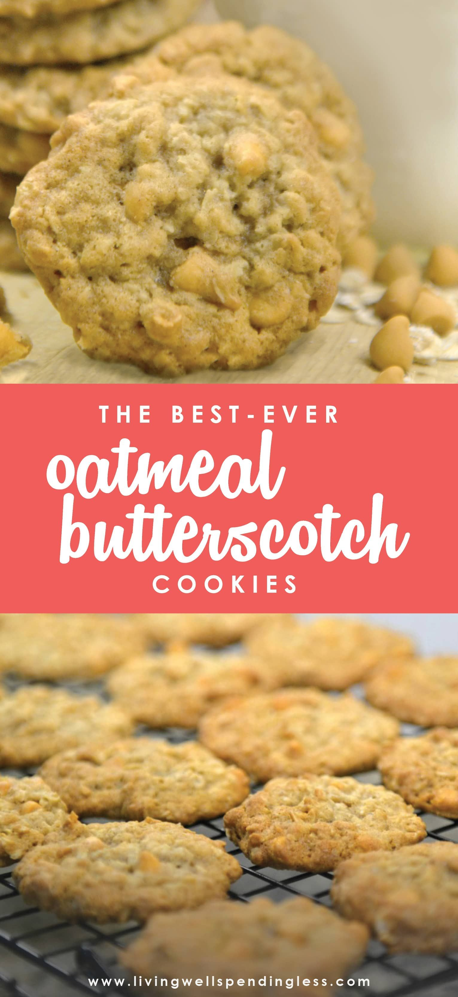 Best Ever Oatmeal Butterscotch Cookies Recipe Food Fruits