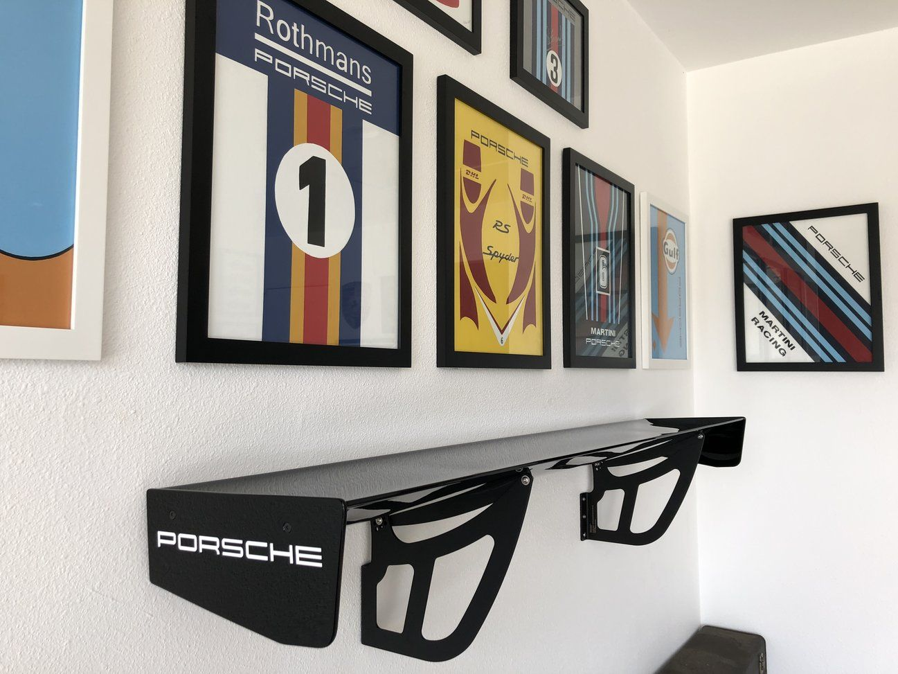 Porsche GT3 Cup Wing Shelf in garage - Rennlist - Porsche