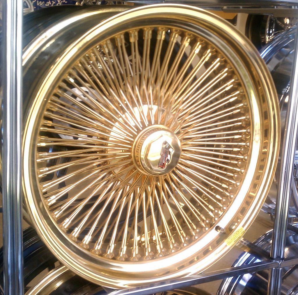 24kgold Triple Gold Dayton Wire Rims Wheels For Sale Dayton Rims Alloy Wheels For Sale