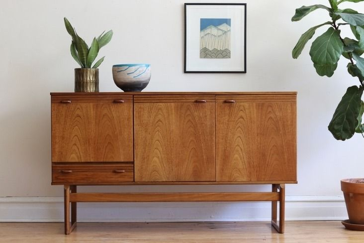 Tall Mid Century Danish Modern Credenza By Nathan Living Room Credenza Mid Century Modern Chair Danish Modern Credenza