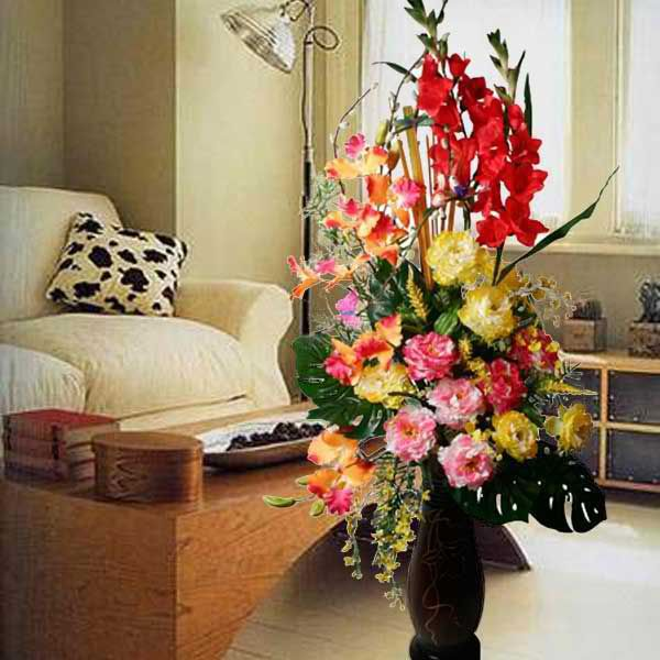 Artificial Flower Arrangements In Tall Vases Jpg 600 600 Flower Arrangements Artificial Flower Arrangements Arrangement