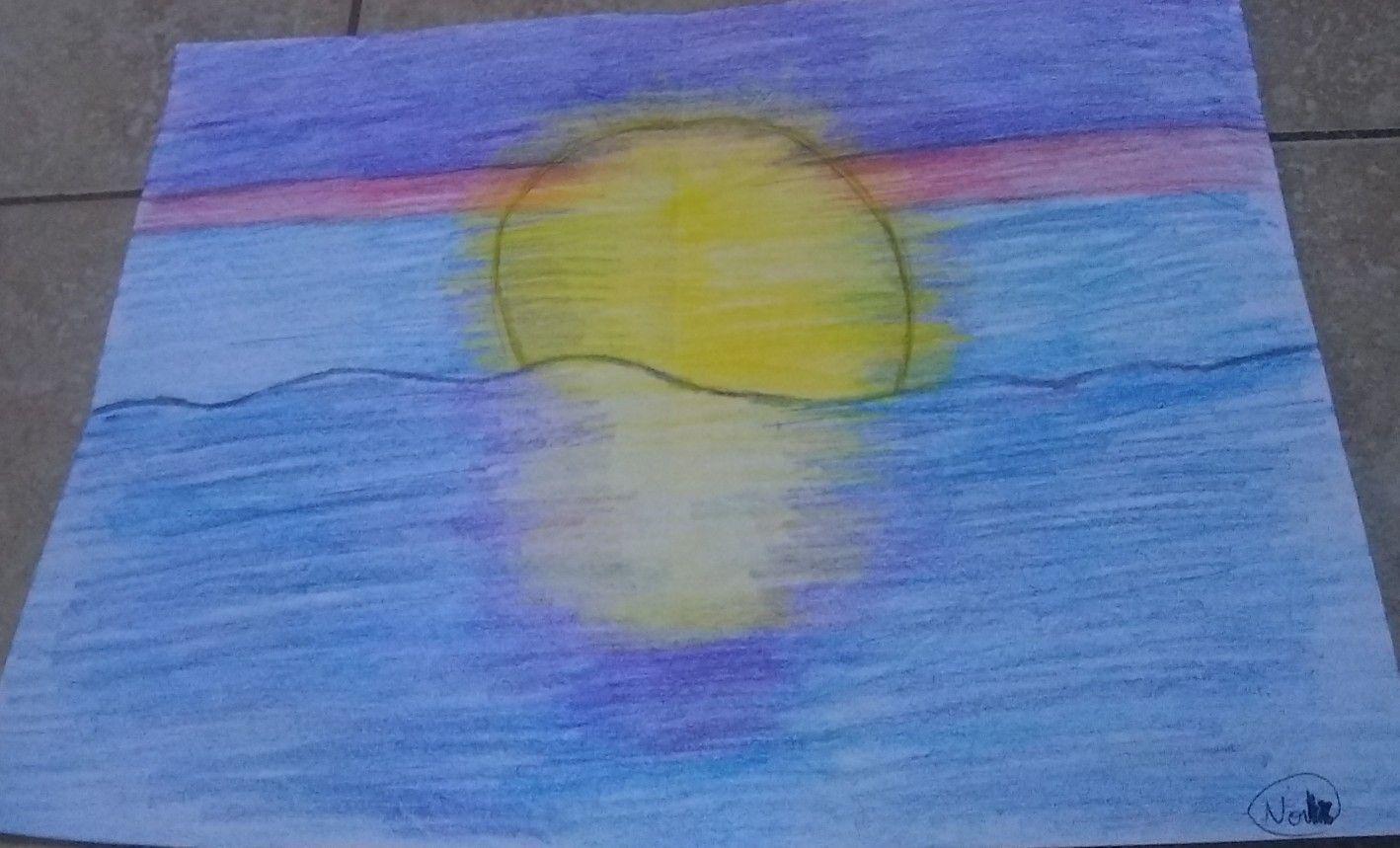 El Reflejo Del Sol Dibujos Sencillos Colores Frios Dibujos De Colores