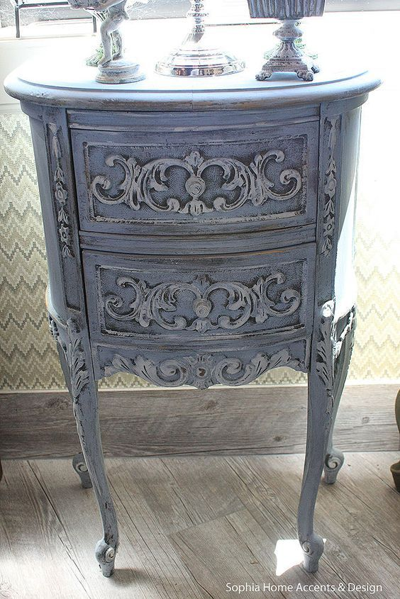 Shabby Chic Vintage French Style Furniture Wood Side Table