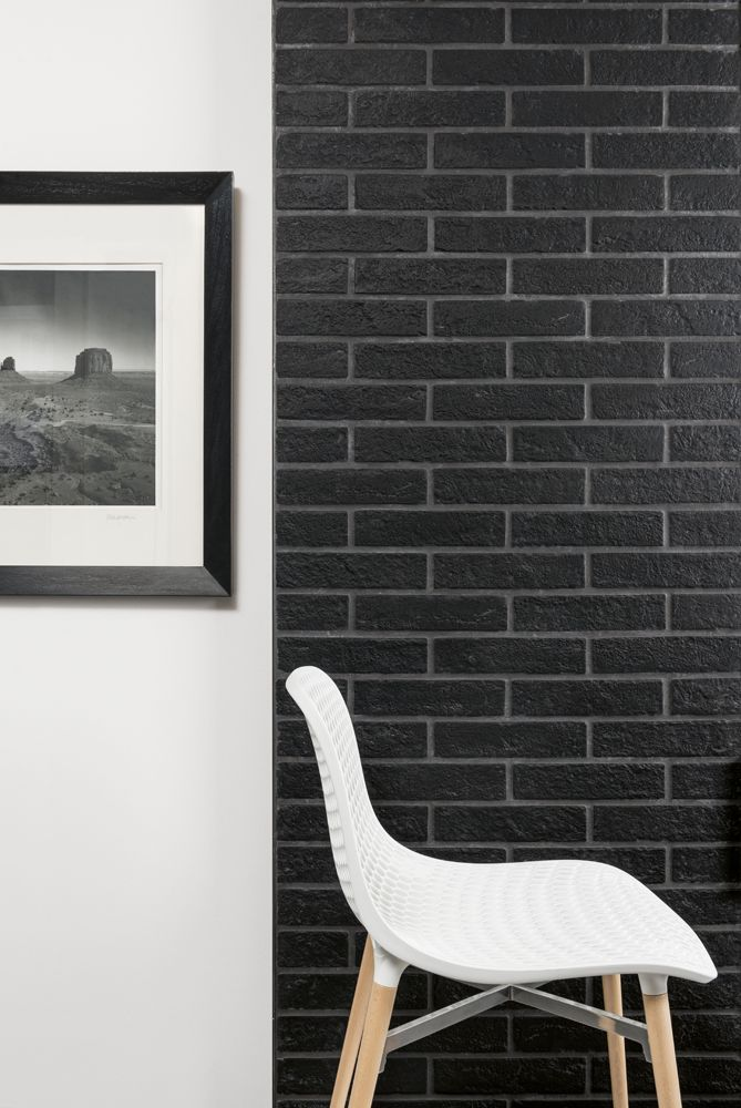These Mattoncino or New York Nero 6cm x 25cm brick tiles are suitable for walls and floors and they are also frost proof so they can be used indoors or outdoors. these glazed porcelain tiles have a matt effect which gives the tiles an authentic look synonymous with elegant, city neighbourhoods.