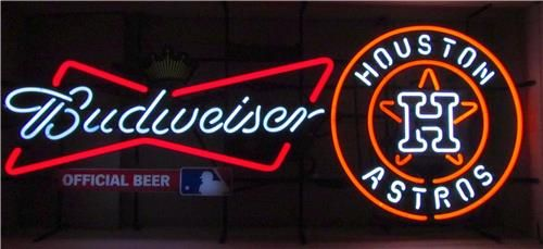 Neon Bar Signs For Sale Budweiser Mlb Houston Astros Neon Bar Sign For Sale At Bucknashtybiz