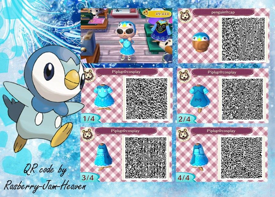 Animal Crossing : New Leaf QR ( Anna from frozen) by