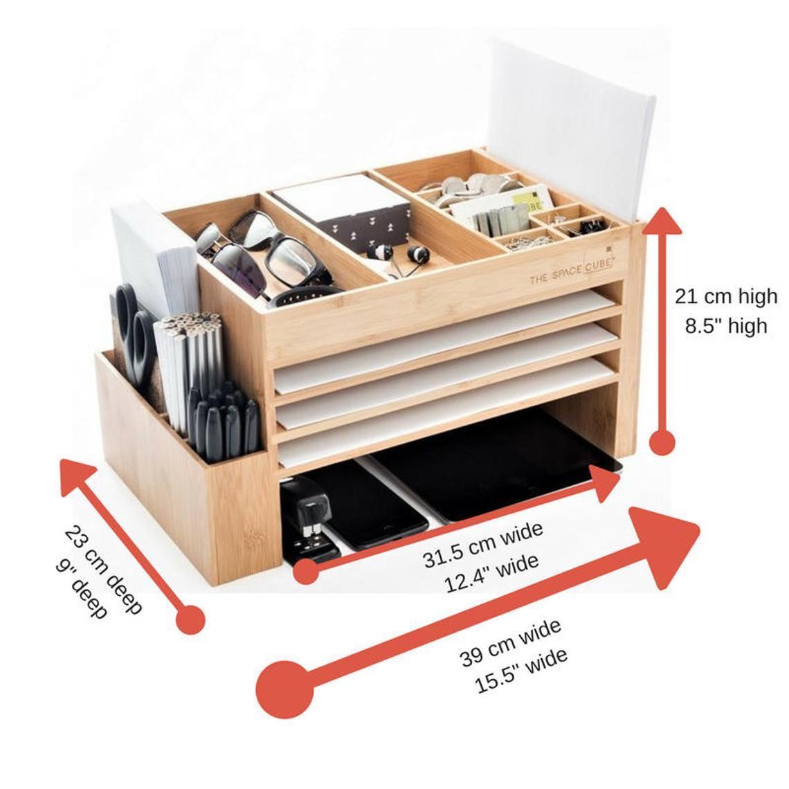 Modern Wood Home Office Supplies Desk Organiser  Desktop Shelf