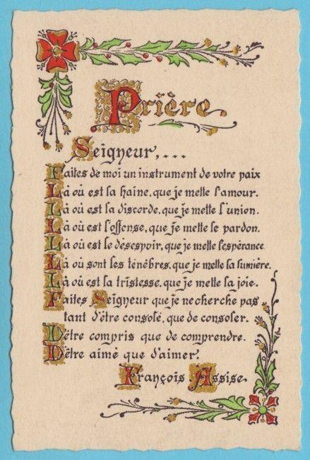 PDF Prière de saint François d'Assise
