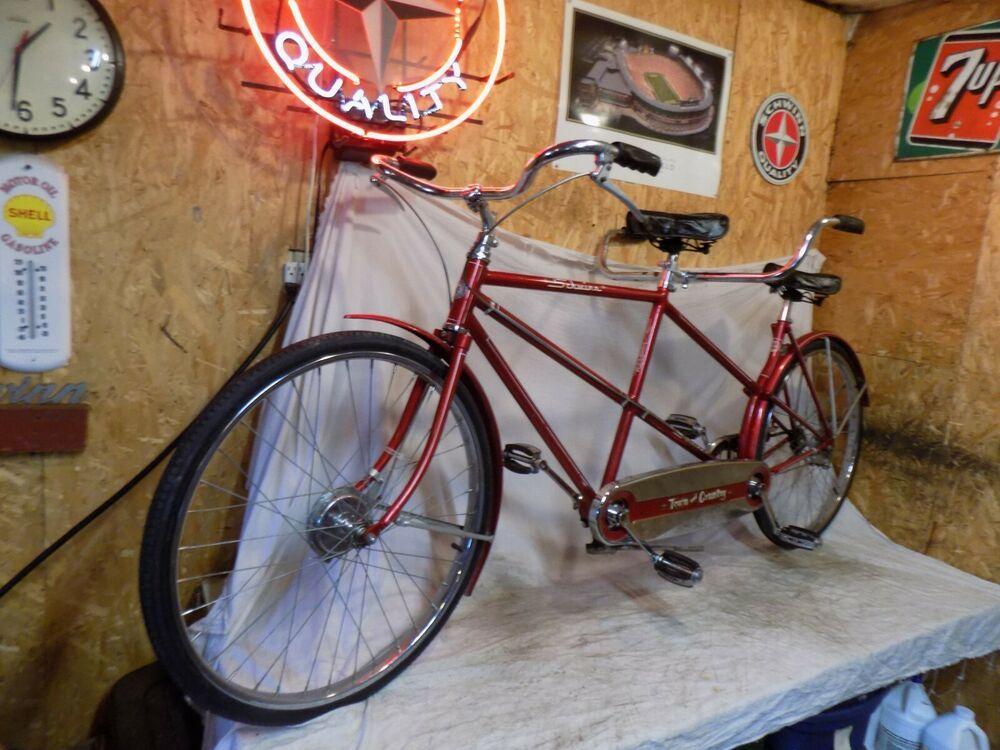 Ebay Sponsored 1955 Schwinn Town And Country Tandem 2 Person Bicycle Vintage Bike Drum Brake 55 Cool Bike Accessories Schwinn Vintage Bike
