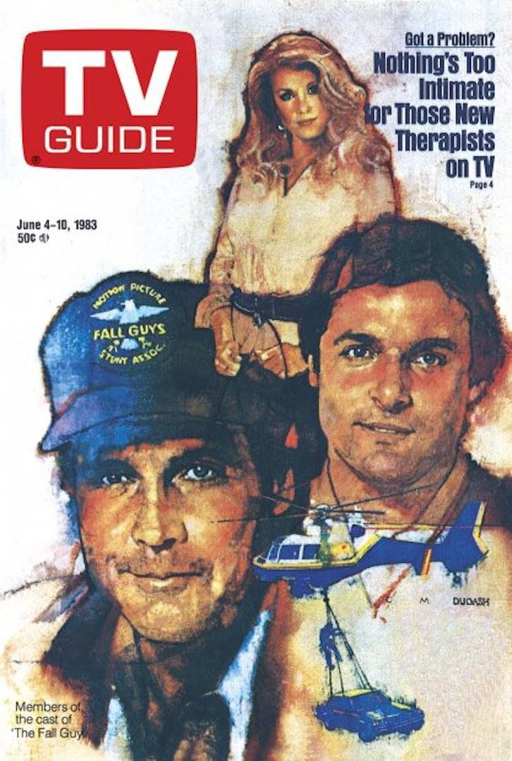 32 years ago today, TV Guide The Fall Guy The fall guy