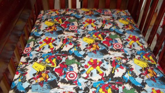 Best Marvel Comics Avengers Crib Or Toddler Bed Sheets By 400 x 300
