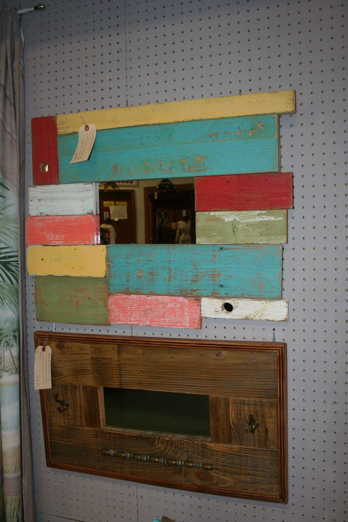 mirrors made from old barn wood!