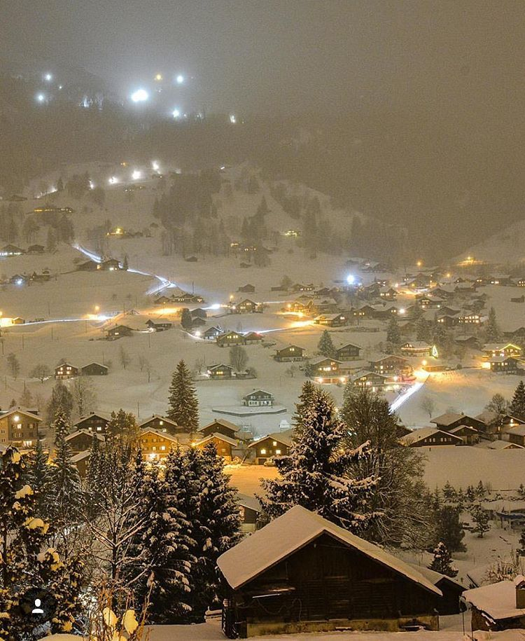 Wonderful Places On Instagram Winter Night In Grindelwald Switzerland Picture By Senn Grindelwald Switzerland Grindelwald Switzerland Vacation