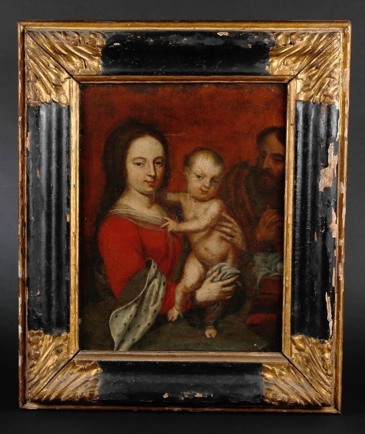17th Century Old Master Antique Oil Painting Oil On Canvas 42 X 32 Cm 16 1 2 X 12 1 2 In Frame 58 X Antique Oil Painting Oil Painting Painting