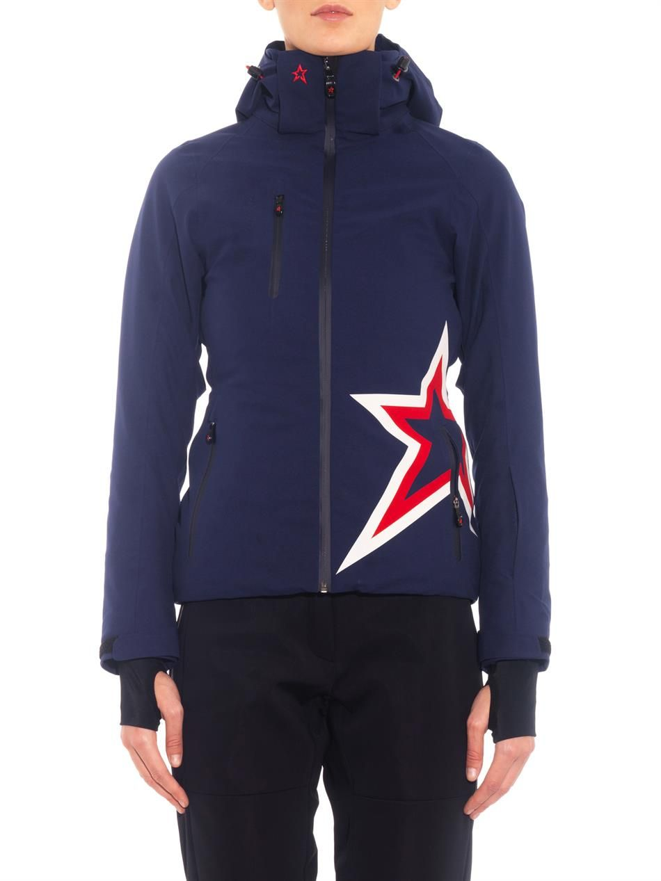 7ec7285e1fa6 Perfect Moment Star-motif hooded ski jacket